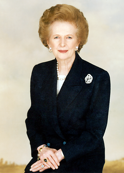 "Click photo to download. Former British Prime Minister Margaret Thatcher ""was loved and admired by many in the (UK) Jewish community,"" said  UK's Chief Rabbi Lord Sacks. Caption:  Margaret Thatcher Foundation via Wikimedia Commons."