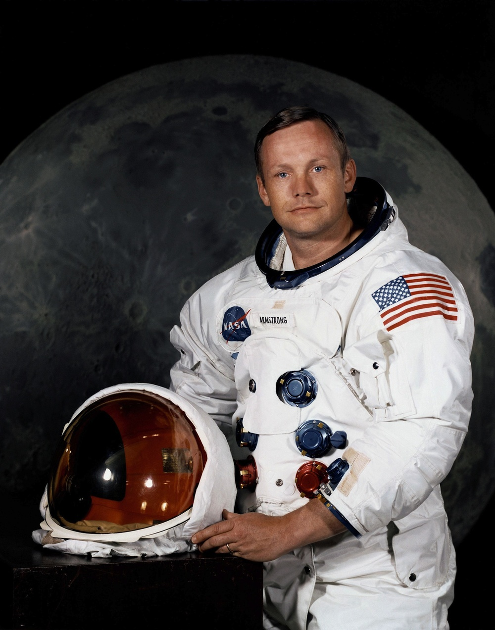 "Click photo to download. Caption: Neil Armstrong, who according to ""A Muslim Primer"" converted to Islam and was threatened to be fired by the U.S. government if he did not ""keep his new religion to himself. Credit: NASA."