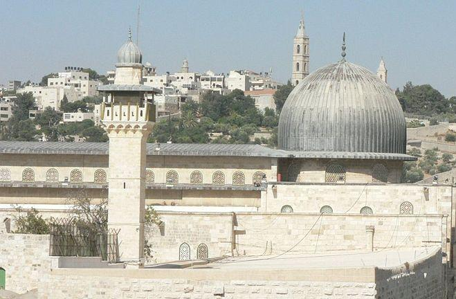 "The Al-Aqsa Mosque on the Temple Mount, which indicted terror cell leader Nur Hamdan allegedly was trying to ""protect"" by carrying out an attack on Israeli targets there. Credit: MathKnight/Wikimedia Commons."