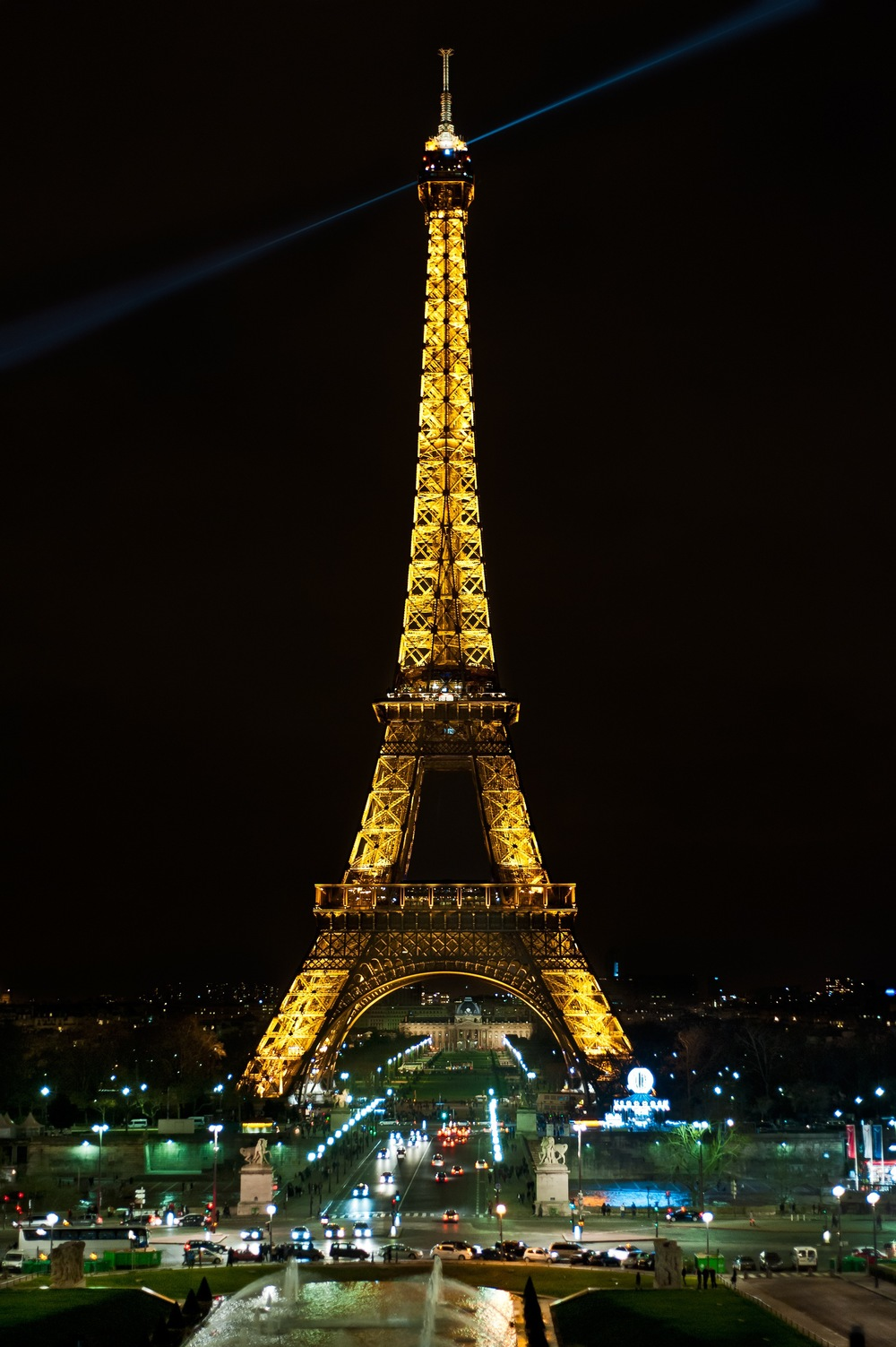 Click photo to download. Caption: Stay at the five star Hotel Fouquets, and catch a view of the Eiffel Tower out your window. Credit: Stefan Krause.