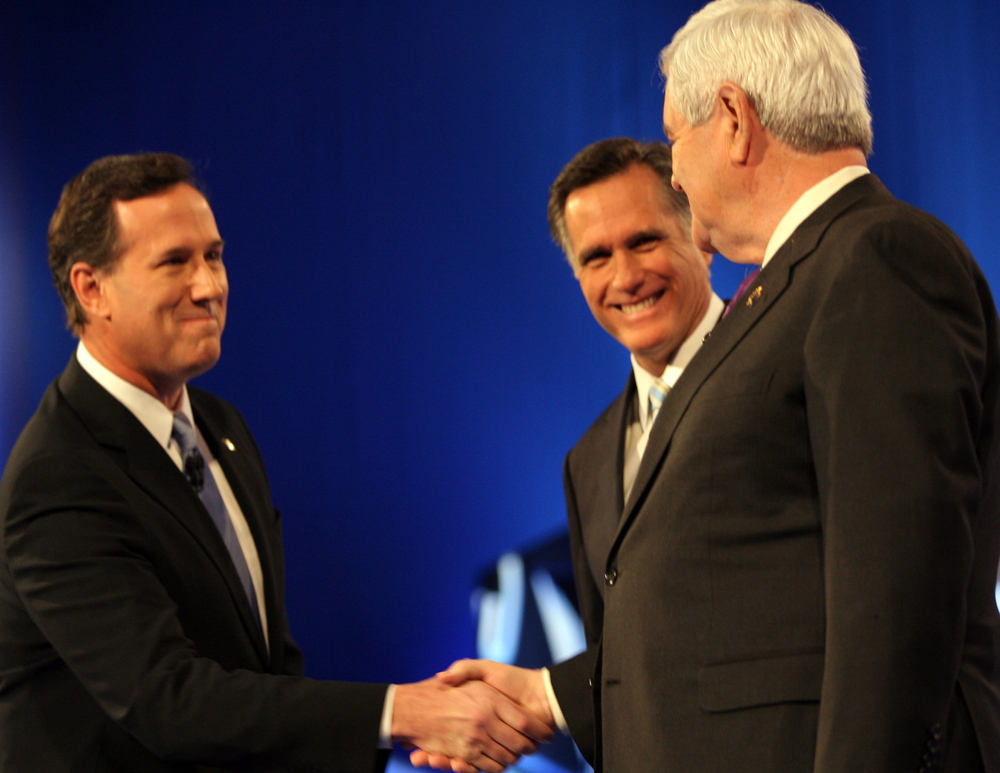 Click photo to download. Caption: As Romney, Gingrich, and Santorum gear up for Super Tuesday, analysts weigh in on which candidate has the best shot with Jewish voters. Credit: EPA/ROY DABNER .