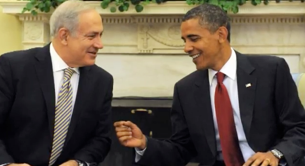 Click photo to download. Caption: Benjamin Netanyahu and Barack Obama in 2009. Credit: Executive Office of the President.
