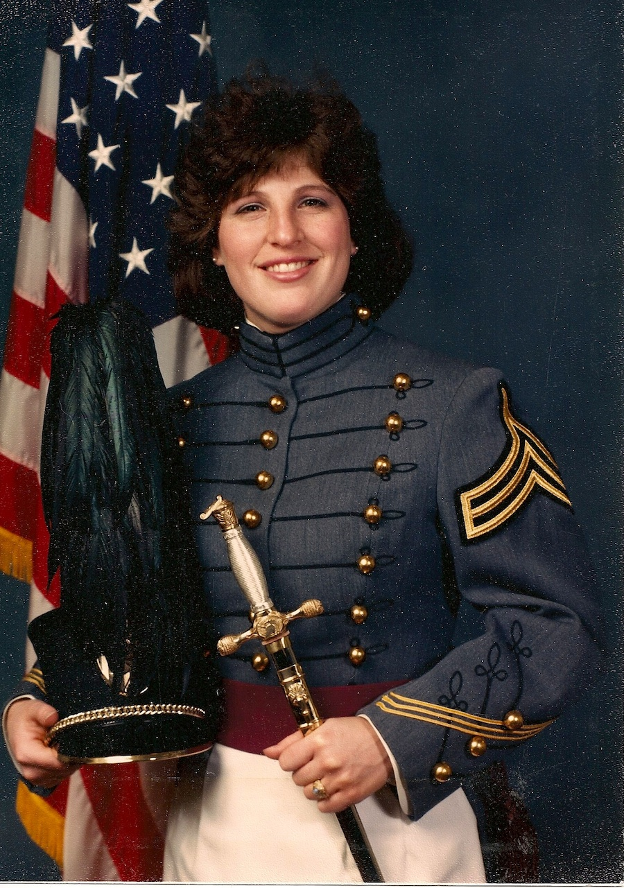 Click photo to download. Caption: Pictured is Sherri Langston on March 18, 1988, the day she became the first female cadet to celebrate a bat mitzvah at West Point. Credit: Courtesy of Sherri Langston.