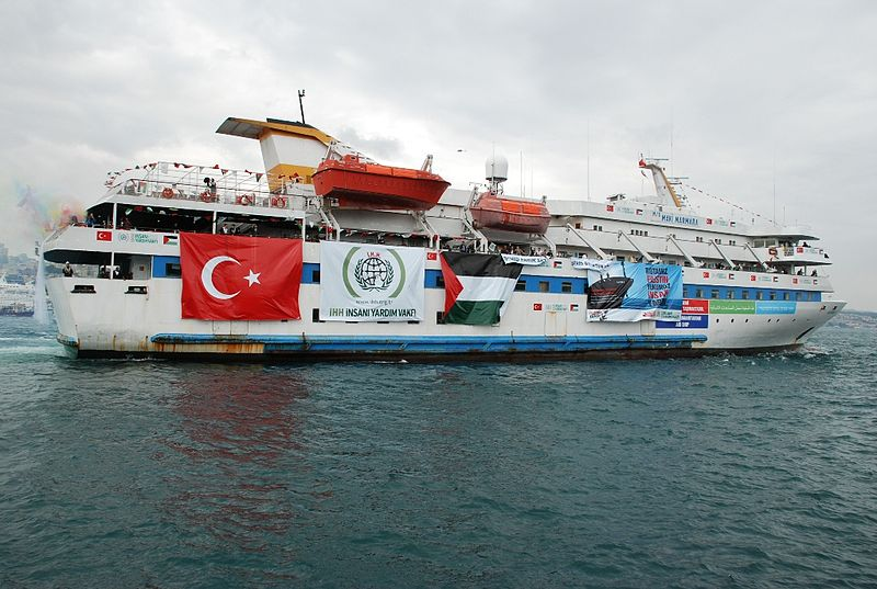 The Mavi Marmara flotilla. Credit: Free Gaza movement via Wikimedia Commons.