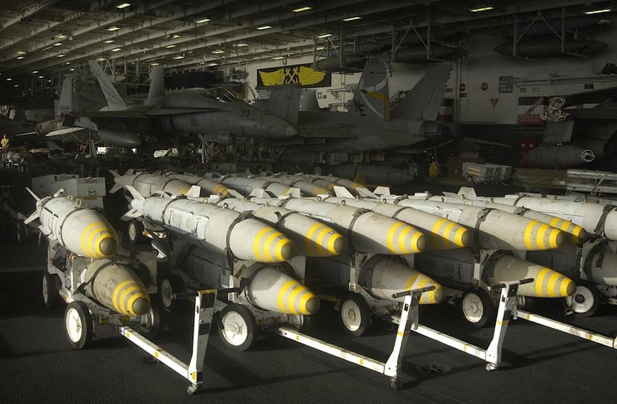 Bunker-buster bombs. Credit: U.S. Navy.