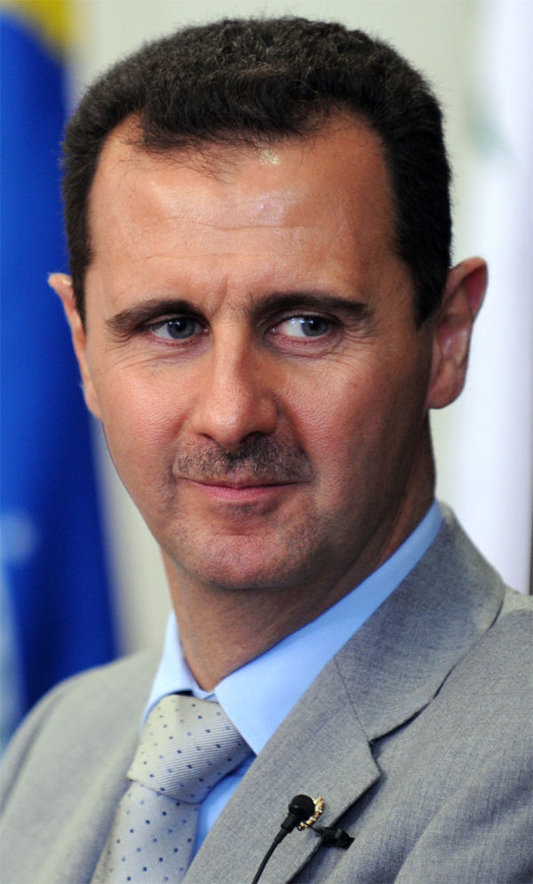 Syrian President Bashar al-Assad, who the U.S. government now believes is using chemical weapons against rebel forces,corroborating with an earlier Israeli intelligence assessment. Credit: Wikimedia Commons.