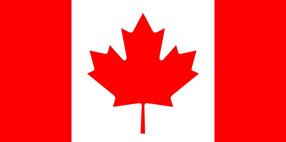 The flag of Canada, which saw a 77 percent rise in Holocaust denial in 2012. Credit: Wikimedia Commons.