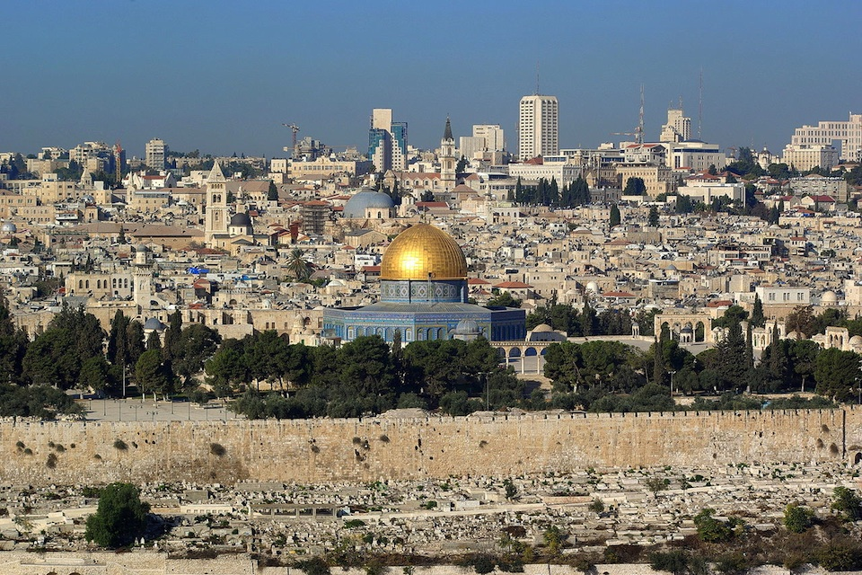 Click photo to download. Caption: A view of Jerusalem, which the U.S. refuses to say is in Israel. Credit: Berthold Werner.