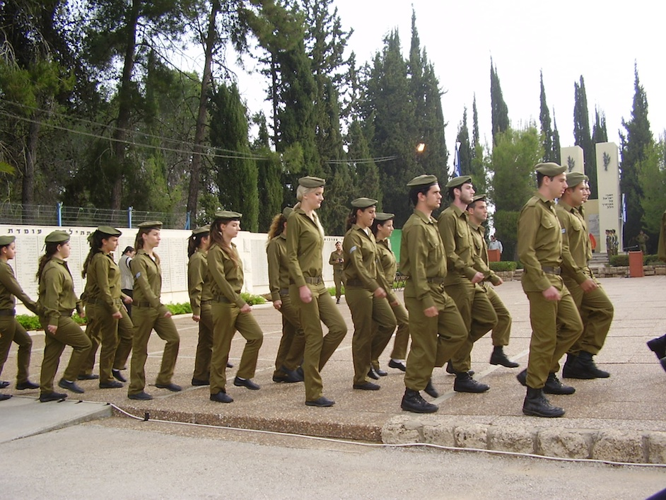 Click photo to download. Caption: A Yom Hazikaron military remembrance ceremony in Tel-Hashomer, Israel. Credit: Avishai Teicher.