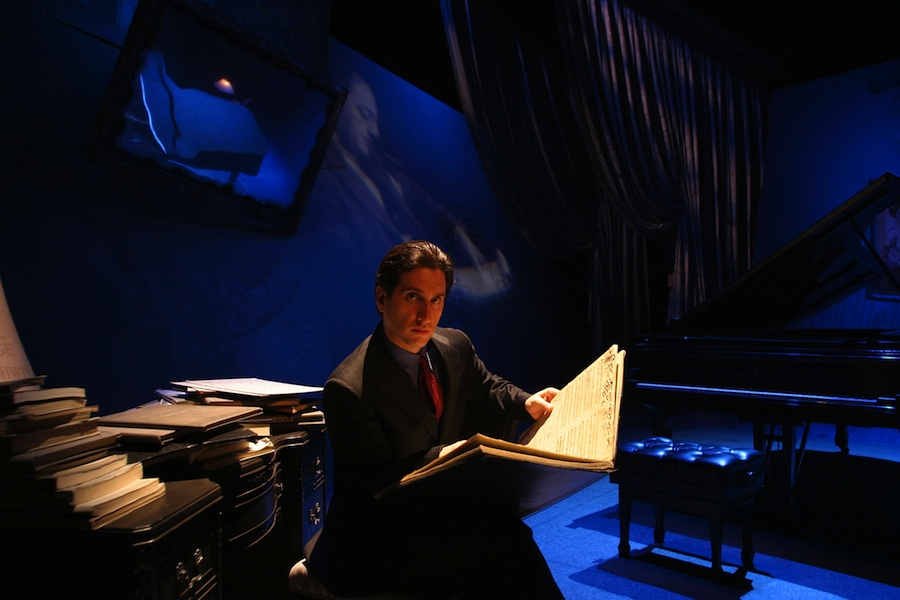 "Click photo to download. Caption: Hershey Felder in ""George Gershwin Alone."" Credit: Mark Garvin."
