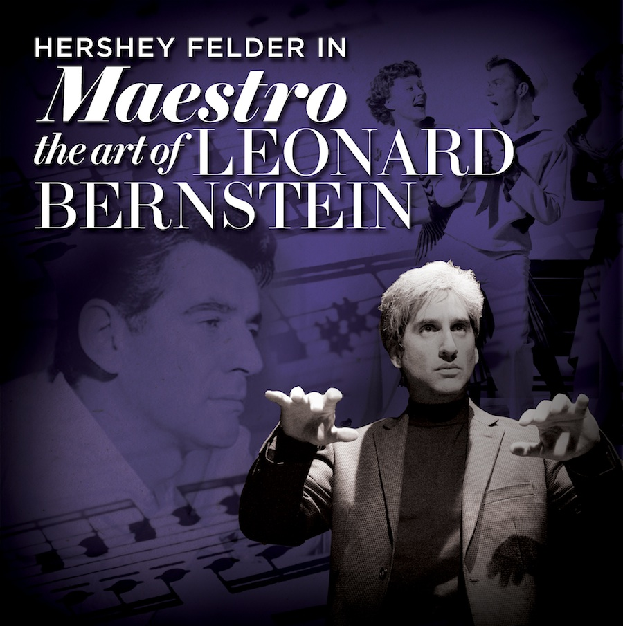 "Click photo to download. Caption: A photo illustration for Hershey Felder's show, ""Maestro: The Art of Leonard Bernstein."" Credit: The Old Globe."