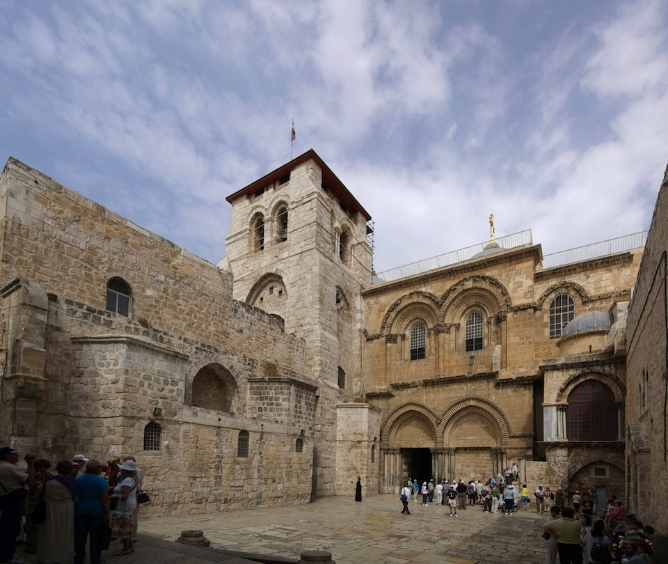 Click photo to download. Caption: Billions of Christians around the world revere the Church of the Holy Sepulchre (pictured) in the Old City as Jesus's burial place, but a recently aired film on the Discovery Channel casts some doubt on that belief. Credit: Berthold Werner.