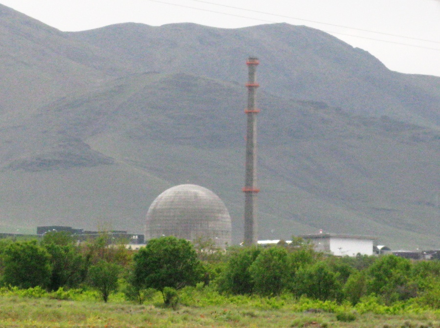 Click photo to download. Caption: The IR40 Heavy Water reactor facility, near Arak, Iran. Credit: Nanking2010.