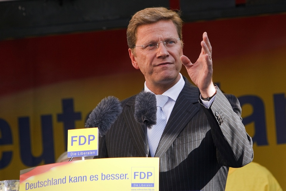 Click photo to download. Caption: German Foreign Minister Guido Westerwelle. Credit: Dirk Vorderstraße.