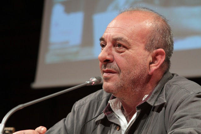 Click photo to download. Caption: In 2008, cartoonist Vauro Senesi (pictured) published a caricature of parliamentarian Fiamma Nirenstein that depicted the Jewish-Italian politician in classic anti-Semitic fashion. When journalist Giuseppe Caldarola accused Senesi of anti-Semitism, Senesi sued. Credit: International Journalism Festival.