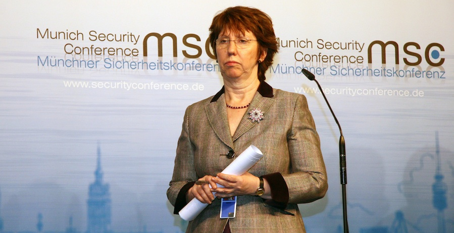 Click photo to download. Caption: The European Union's foreign policy chief, Catherine Ashton, is among the world leaders under the spell of the Iranian masters of deception, according to JNS columnist Ben Cohen. Credit: Harald Dettenborn.