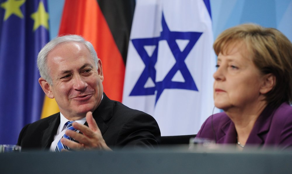 Click photo to download. Caption: Germany has a vast misperception of Israel, Netanyahu, seen here with German Chancellor Angela Merkel in 2011, told German newspaper Bild in an interview Tuesday. Credit: EPA/HANNIBAL HANSCHKE .