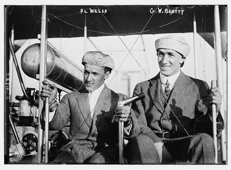 "Click photo to download. Caption: Arthur ""Al"" Welsh & G.W. Beatty. Credit: Bain News Service."