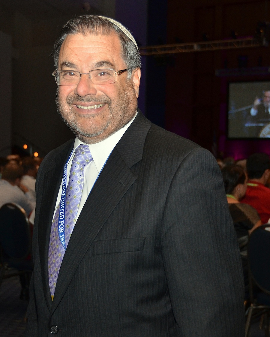 Click photo to download. Caption: Rabbi Shlomo Riskin, chief rabbi of Efrat, at the Christians United for Israel (CUFI) convention. Credit: Maxine Dovere.