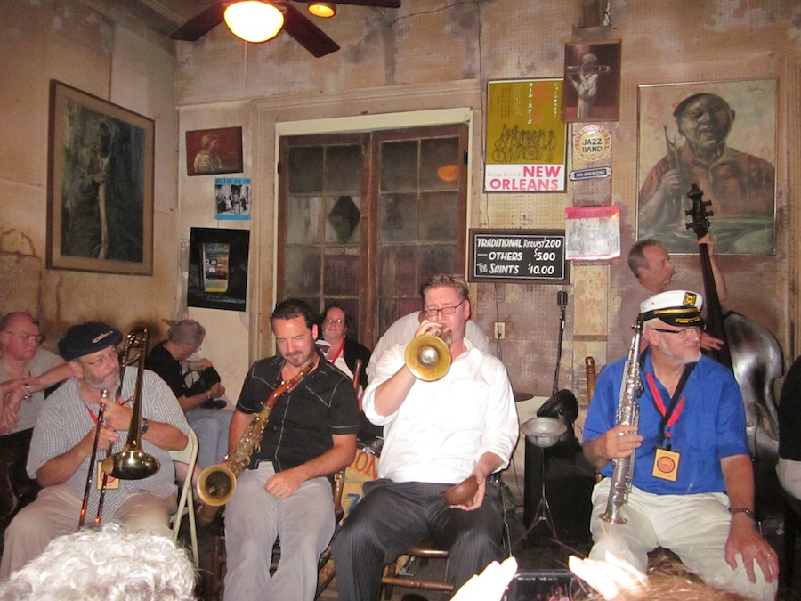 Click photo to download. Caption: Jazz camp at Preservation Hall in New Orleans. Credit: Wikimedia Commons.