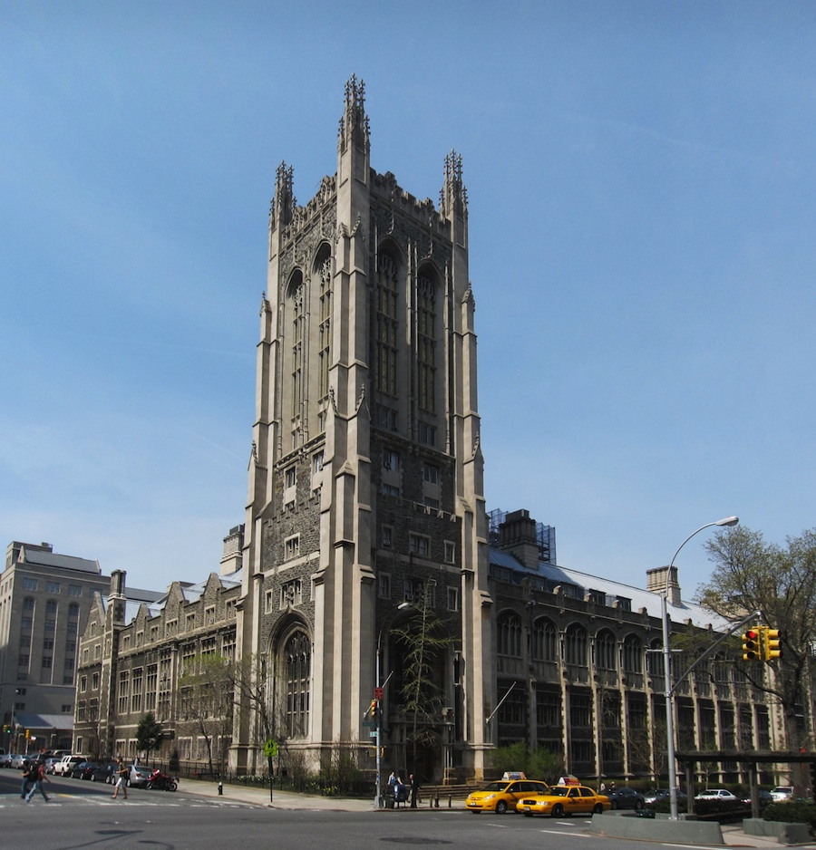 Click photo to download. Caption: The Union Theological Seminary in New York (pictured) is partnering with the Jewish Theological Seminary in an experiment in which 12 Christian, Jewish and Muslim women will be divided into small groups to meet regularly and, if funding can be found, live together. Credit: Union Theological Seminary.