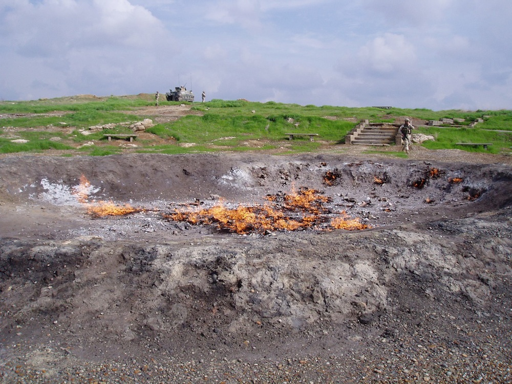 Click photo to download. Caption: The oil field of Baba Gurgur in Iraq. Credit: Chad R. Hill/Wikimedia Commons.