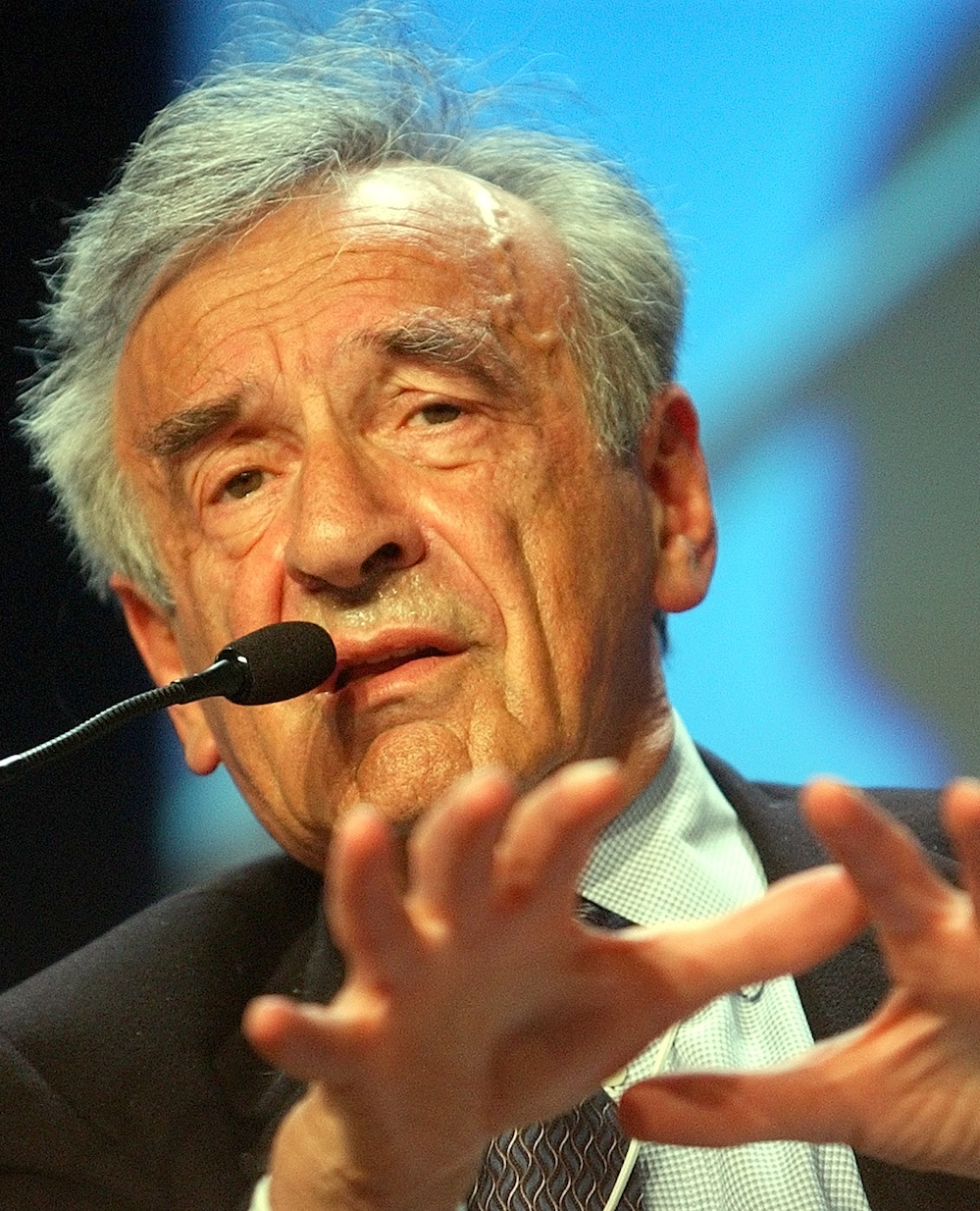 Click photo to download. Caption: Elie Wiesel, one of the well-known featured authors on JewishFiction.net. Credit: World Economic Forum.