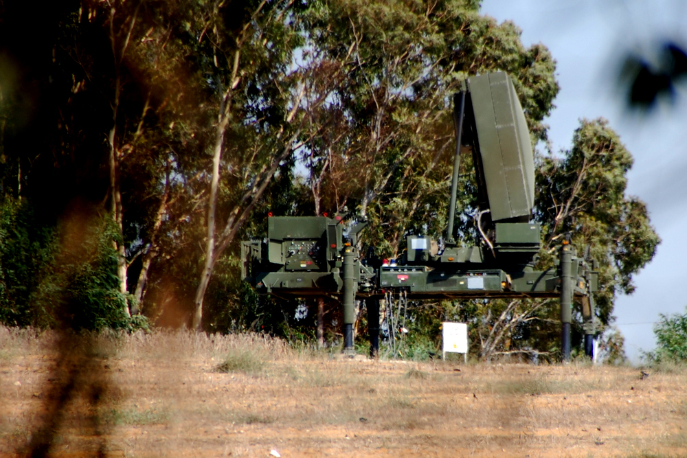 Click photo to download. Caption: The radar for Israel's Iron Dome missile defense system. Elta, the manufacturer of that radar, this year received a conditional $300,000 grant to open a new office in Maryland. Credit: Efi Elian.
