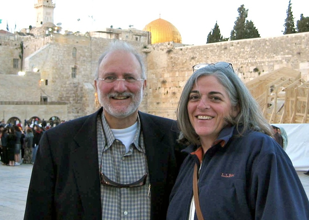 Click photo to download. Caption: Alan Gross with his wife Judy in Jerusalem. Credit: Gross family.
