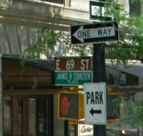 Click photo to download. Caption: Janis R. Coulter Place in Manhattan. Credit: Google Maps.
