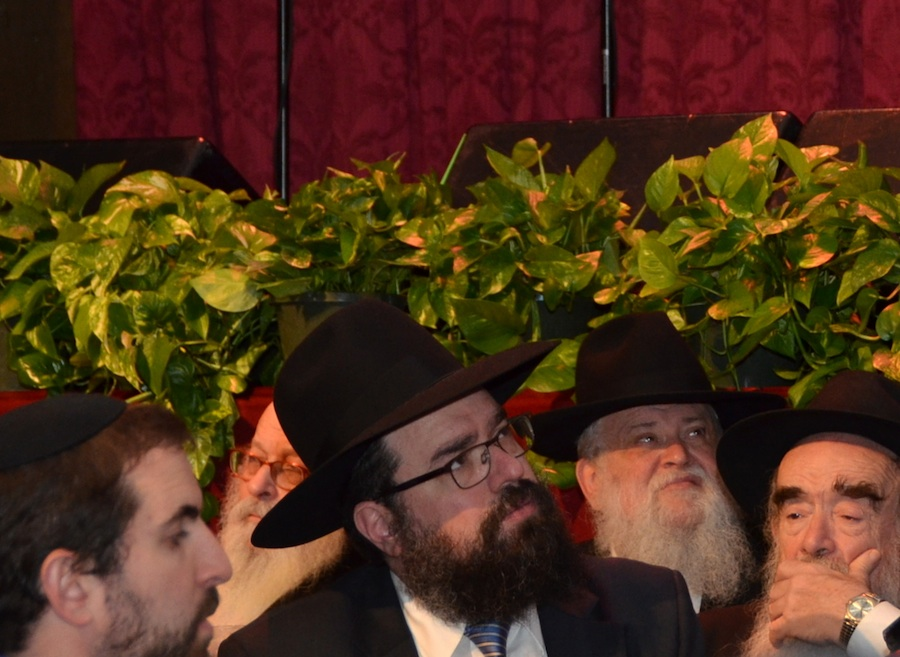 Click photo to download. Caption: Rabbi Levi Shemtov of American Friends of Lubavitch in Washington, DC looks on during the Chabad emissary conference in New York. Credit: Maxine Dovere.
