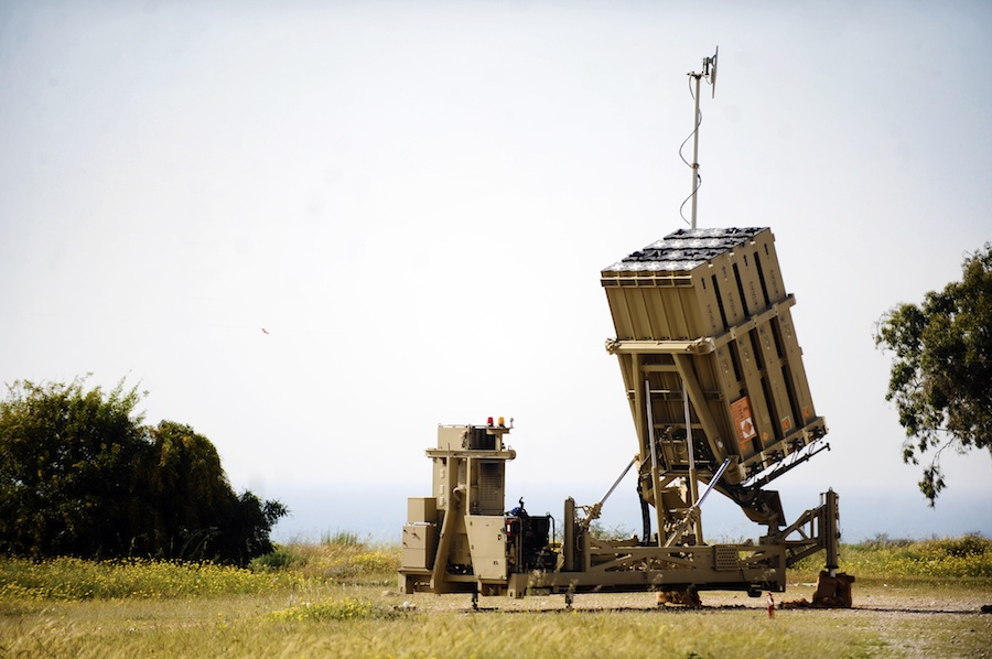Click photo to download. Caption: The Iron Dome battery near Ashkelon. Credit: Israel Defense Forces.