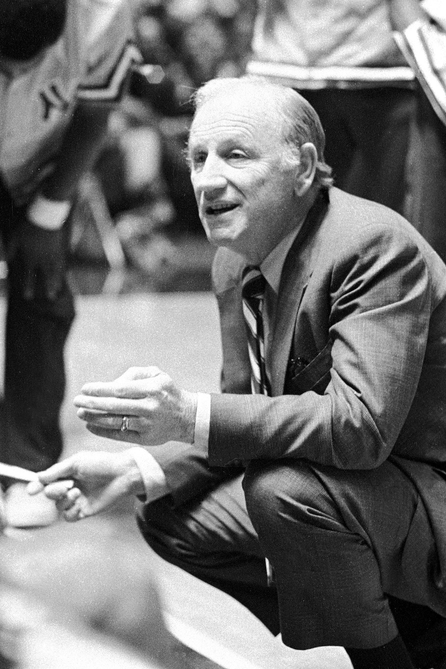 Click photo to download. Caption: Coach Red Holzman, one of the prominent Jewish figures in basketball. Credit: From the lens of George Kalinsky.