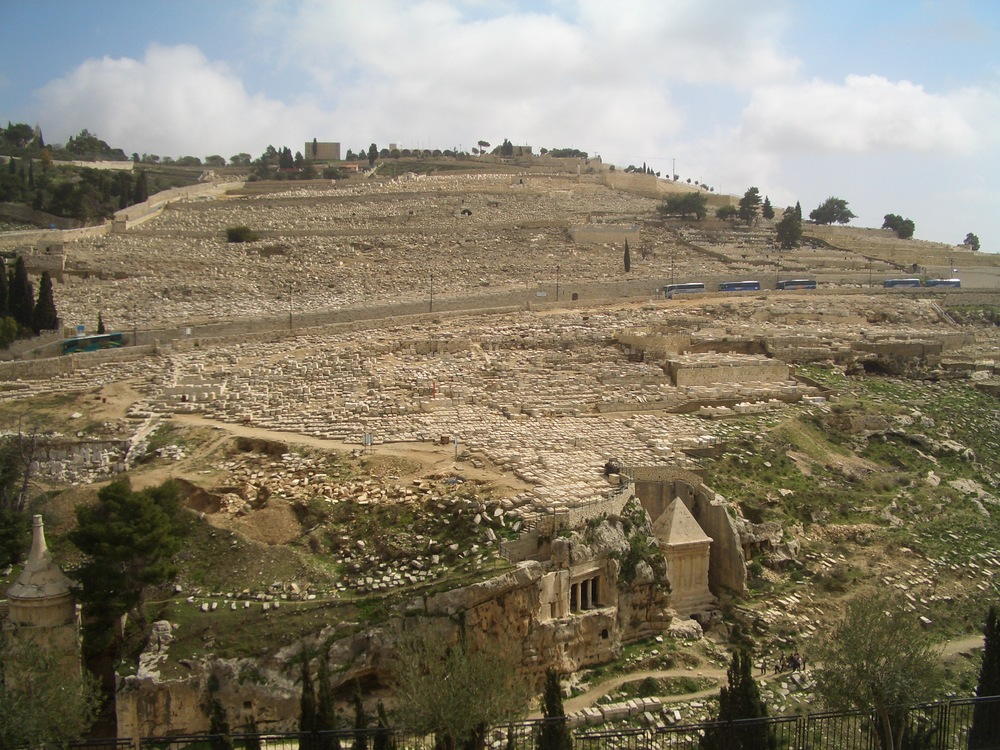 Click photo to download. Caption: The Mount of Olives viewed from the Old City walls of Jerusalem. Credit: Wilson44691/Wikimedia Commons.