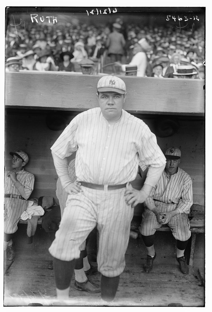 Click photo to download. Caption: Babe Ruth in 1921. Credit: George Grantham Bain.