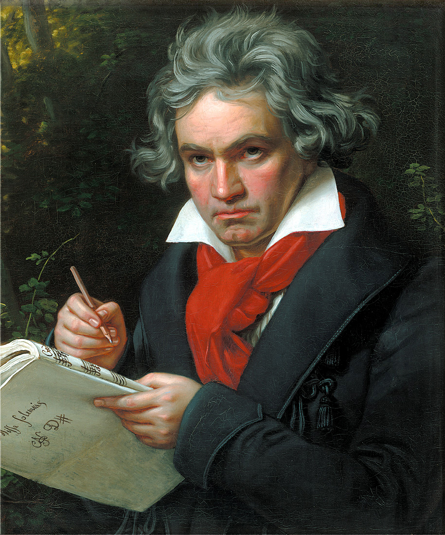 "Click photo to download. Caption: A portrait of Ludwig van Beethoven. When American Zionist activist Harold Manson heard the Palestine Orchestra 65 years ago, he wrote ""There was electricity in the air. And Beethoven was a Zionist, singing out his message of hope—this time for the Jewish people."" Credit: Joseph Karl Stieler/Wikimedia Commons."