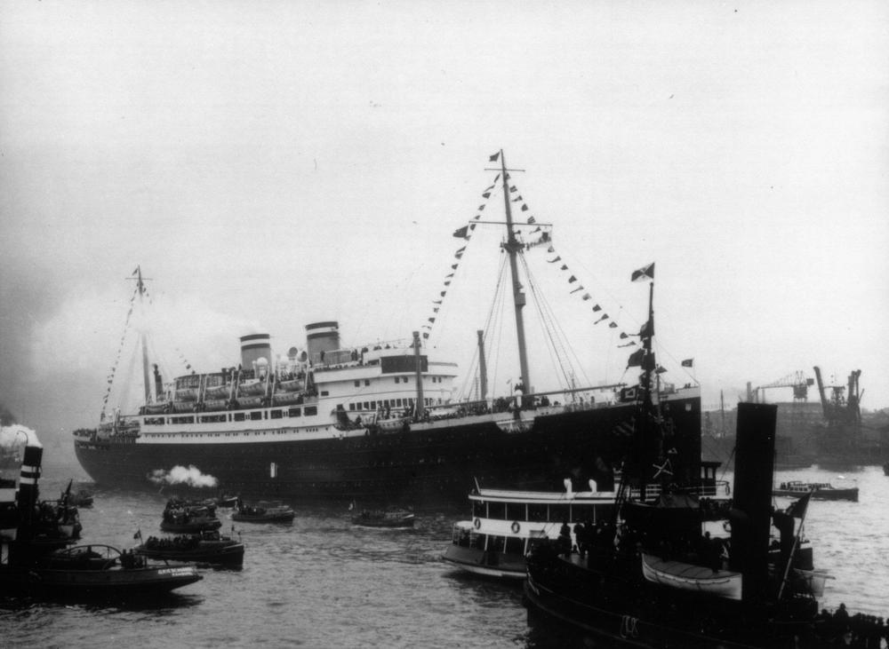 Click photo to download. Caption: Pictured is the Holocaust-era refugee ship St. Louis, the so-called Voyage of the Damned. Credit: Courtesy of The David S. Wyman Institute for Holocaust Studies.