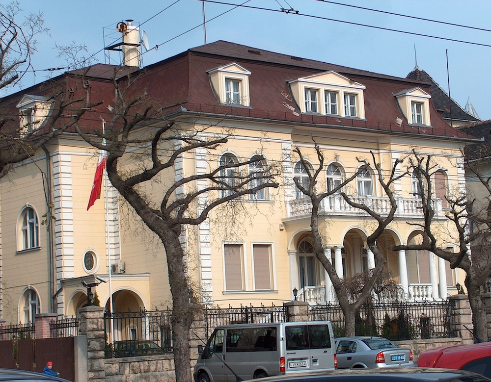 "The Embassy of Iran in Budapest. ""Everywhere there is an Iranian embassy, there is usually one person, and probably more, directly involved in planning terrorist activity against Jewish and Israeli targets,"" said Brig. Gen. (Res.) Nitzan Nuriel, the former head of the Israeli National Security Council's counter-terrorism bureau. Credit: Wikimedia Commons."