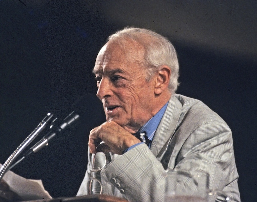 Click photo to download. Caption: Saul Bellow at the Miami Book Fair International festival in 1990. Credit: MDCarchives/Wikimedia Commons.