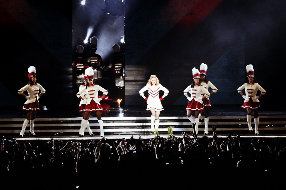 Click photo to download. Caption: Madonna performs in Tel Aviv on May 31, 2012. Credit: MDNA.