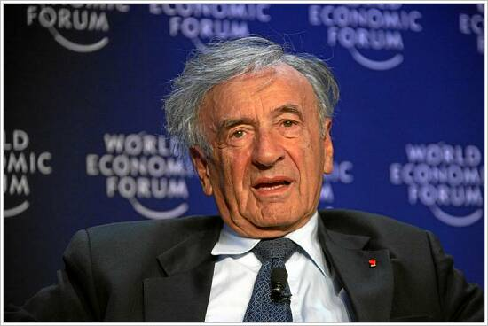 Click photo to download. Caption: The 2013 Elie Wiesel Prize in Ethics essay contest is named after the well-known Holocaust survivor and writer. Credit: World Economic Forum via Wikimedia Commons.