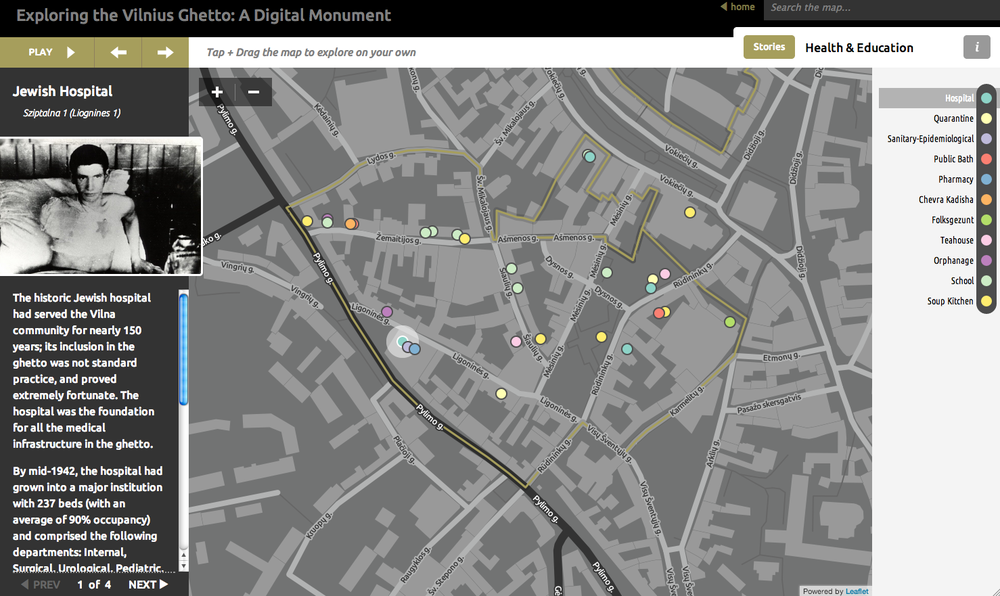 Click photo to download. Caption: Menachem Kaiser's digital map of the Vilnius Ghetto. Credit: Revilna.org.