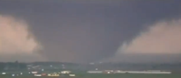 Footage of the Oklahoma City tornado on Tuesday. Credit: YouTube.