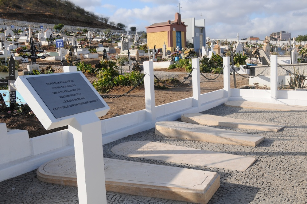 Click photo to download. Caption: The rededicated Jewish burial site in the Cape Verde capital of Praia. Credit: Cape Verde Jewish Heritage Project, Inc.