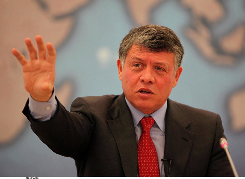 Click photo to download. Caption: King Abdullah of Jordan. JNS.org examines whether Jordan's monarchy will hold on, or become the next casualty of the Arab Spring. Credit: Chatham House.