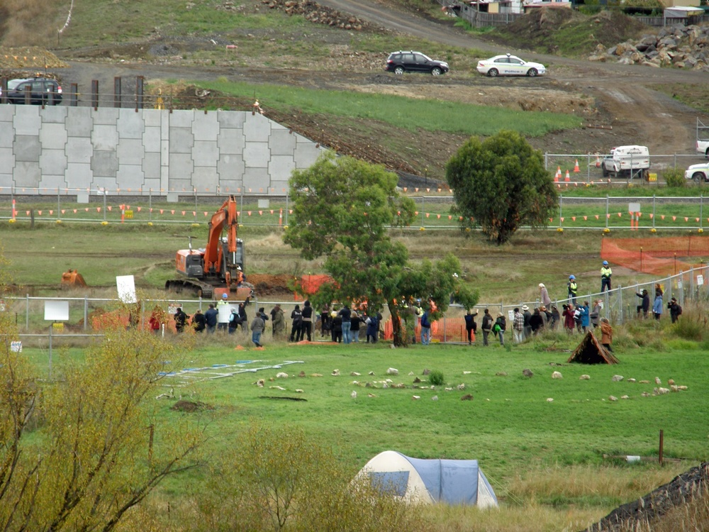 Click photo to download Caption:  Click photo to download. Caption: The beginning of a protest taking place on the Jordan River Levee regarding the construction of the Brighton Bypass in April 2011. JNS.org examines whether the Jordanian monarchy can survive the Arab Spring. Credit: Wikimedia Commons.