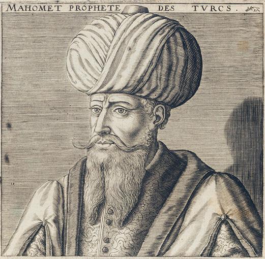 A portrait of the Prophet Muhammad. Credit: Michael Baudier.