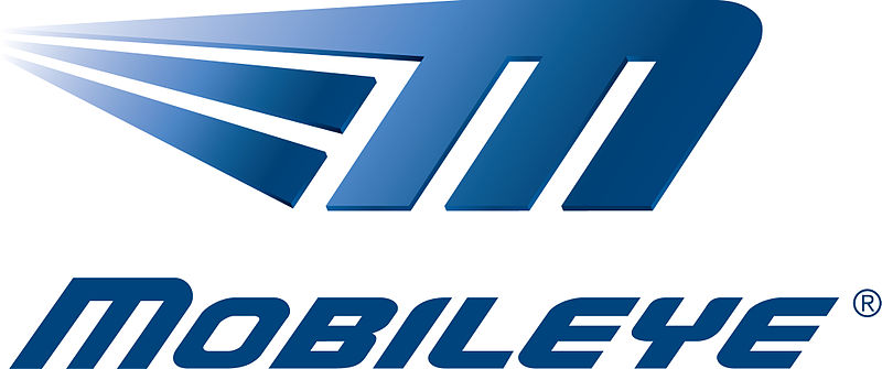 Click photo to download. Caption: Israeli company Mobileye (logo shown) has released a camera technology that allows cars to drive themselves. Credit: Wikimedia Commons.