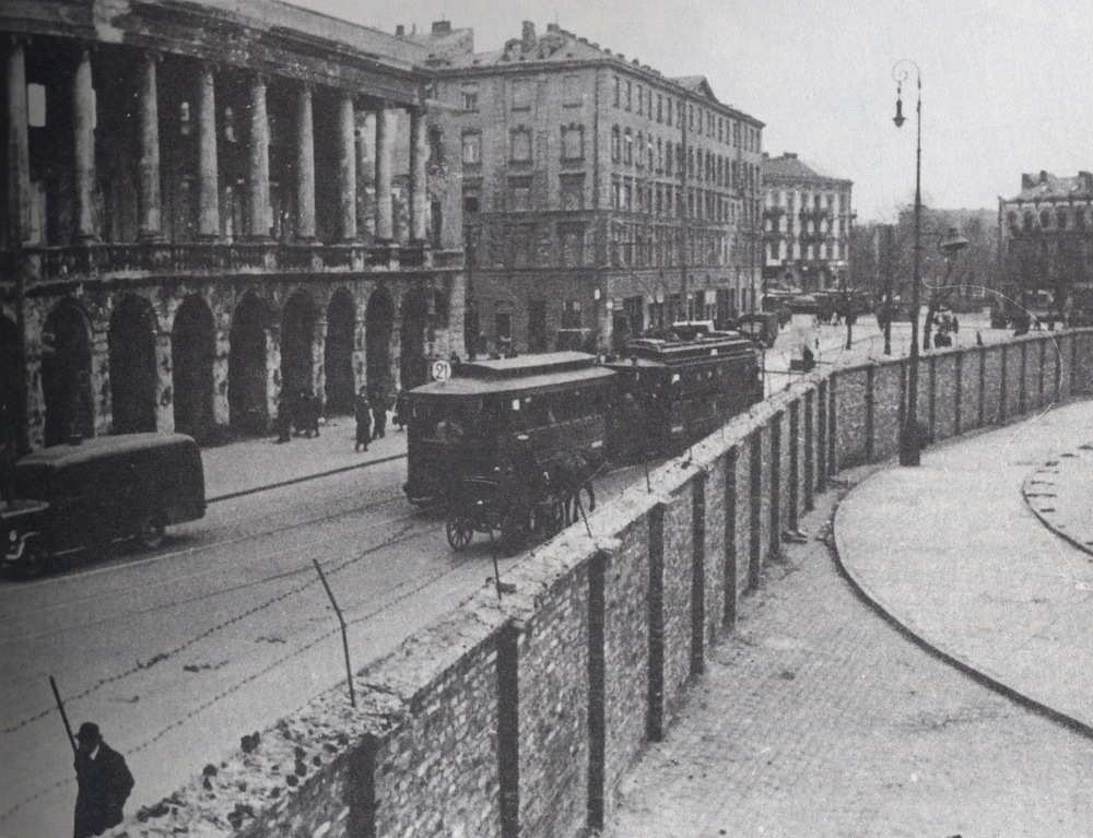 Click photo to download. Caption: Part of the wall surrounding the Warsaw Ghetto. Credit: Photo courtesy of The David S. Wyman Institute for Holocaust Studies.