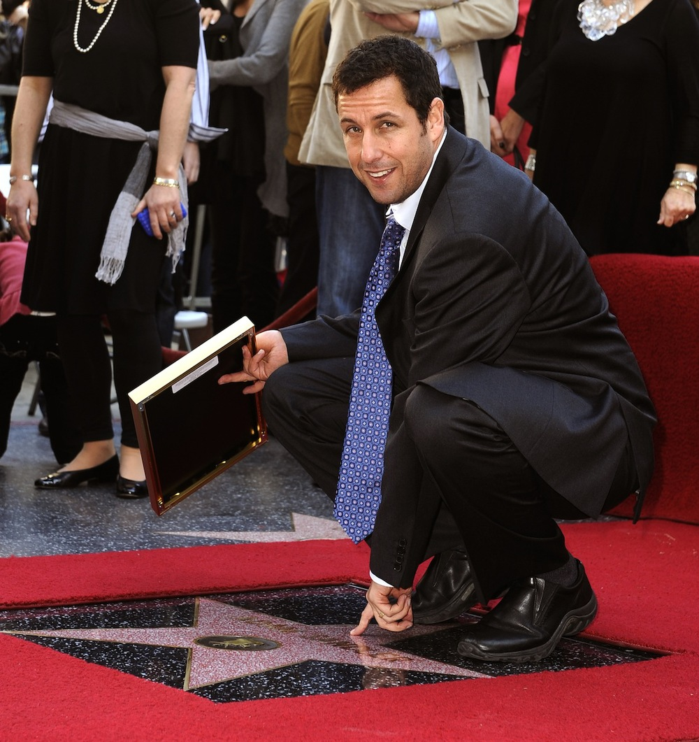 Click photo to download. Caption: Adam Sandler has come a long way since releasing his ballad of young Jewish angst in 1994. Credit: EPA/MIKE NELSON.